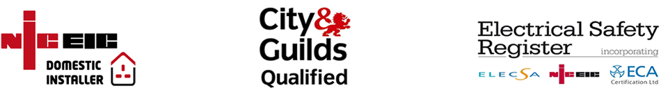 NIC EIC Registered Domestic Installer, City & Guilds Qualified & Electrical Safety Register